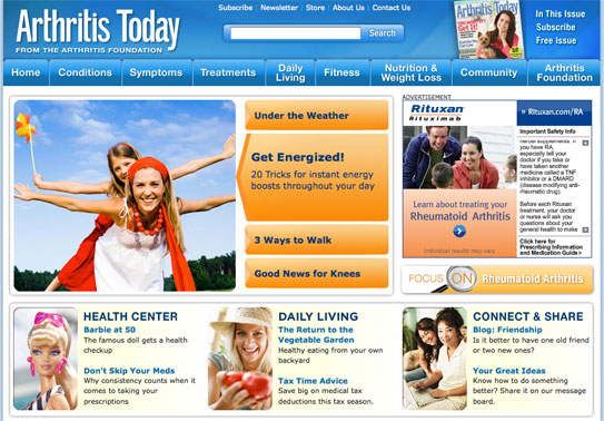 Arthritis Today Website