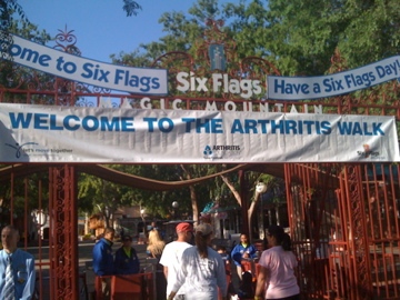 Arthritis Walk At Six Flags Magic Mountain