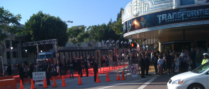 Red Carpet for the Transformers Movie